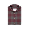 Burgundy Gray Large Plaid Flannel