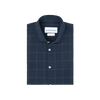 Navy Gray Windowpane