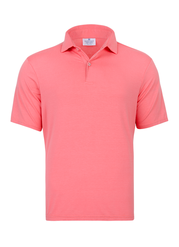 """Whirlaway"" Coral Performance Polo Shirt"