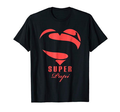 Super Papi Superhero Papi T Shirt Gift Mother Father Day