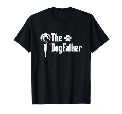 Mens The Dogfather Golden Retriever Dog Dad Tshirt Father's Day