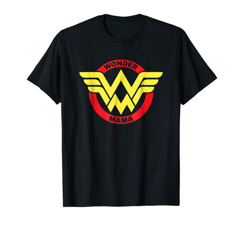 Womens Wonder Mama Mother T Shirt Gift SuperHero Mom