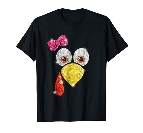 Turkey Face Shirt For Girl Women Thanksgiving Turkey Gift