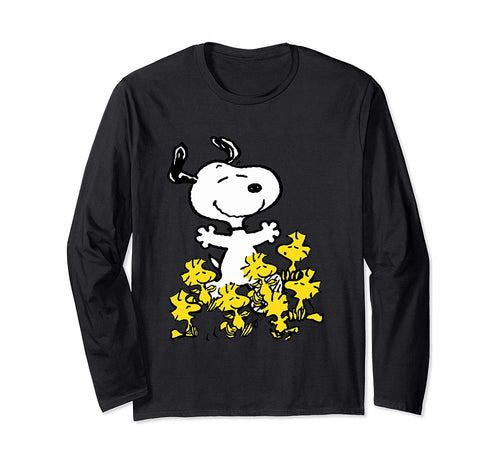 Peanuts Snoopy chick party Long Sleeve T-shirt
