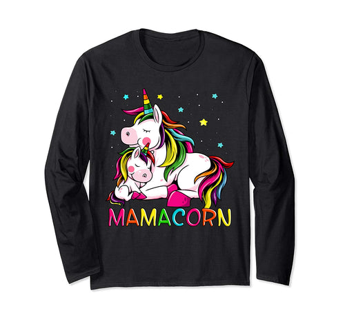 Mamacorn Mother's Day Unicorn Mom Mommycorn Women Long Sleeve T-Shirt