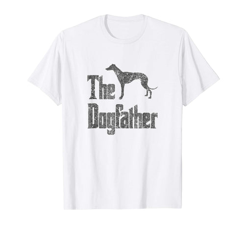 The Dogfather t-shirt, Greyhound silhouette, funny dog gift