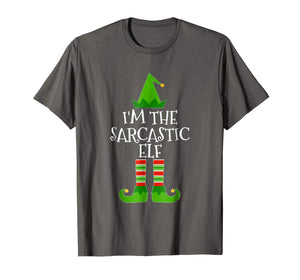 I'm The Sarcastic Elf Matching Family Christmas T Shirt
