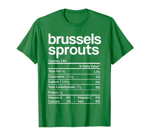 Brussels Sprout Nutrition Facts Funny Thanksgiving Christmas T-Shirt