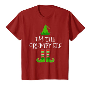 I'm The Grumpy Elf Matching Family Group Christmas T Shirt