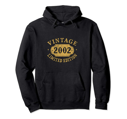 17 years old 17th Birthday Anniversary Gift Limited 2002 Pullover Hoodie