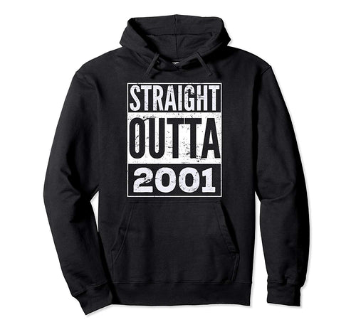 Straight Outta 2001 Funny Birthday Gift Pullover Hoodie