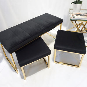 Doha Dining Bench and Stools seat set