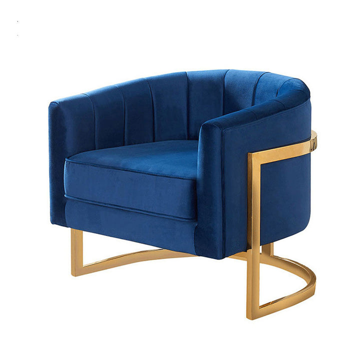 Modern Gold and midnight blue occasional chair