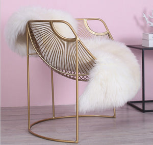 WIRED briq dining chair gold bucket round wire chair