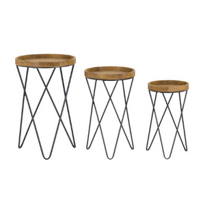Loft Collection Set Of Three Side Tables