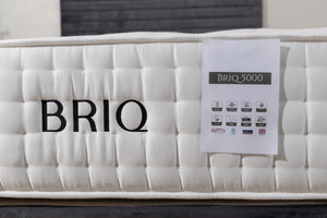 BRIQ Mattress - Natural 5000 Pocket Sprung breathable