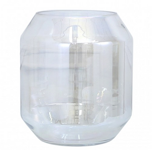 Large Lustre Glass Ball Vase