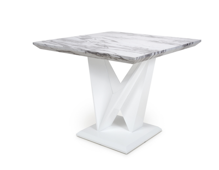 Saturn Square Marble Effect Top Dining Table