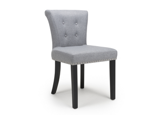 Pair of Sandringham Linen Effect Silver Grey Accent Chairs