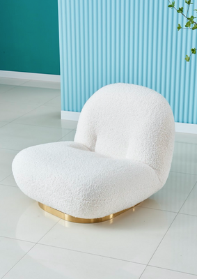 Kylie Boucle Swivel bubble white lounge occasional chair