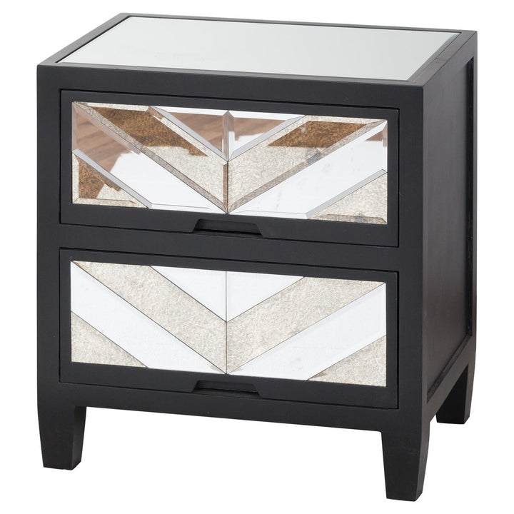 SOHO Black Mirrored bedside table