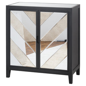 SOHO Black Mirrored Cabinet Sideboard side table