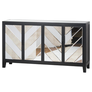 SOHO Black Mirrored Sideboard