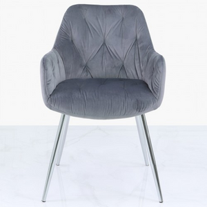 Stella Grey Velvet Dining Chair
