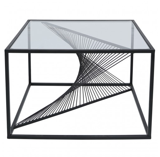 Value Luna Black Metal & Glass Coffee Table