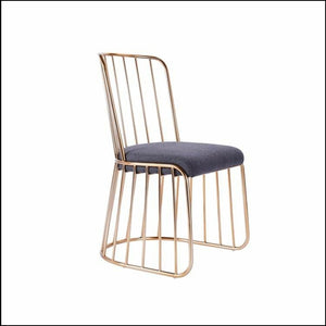 Doha wired Dining chairs x 2 gold wire