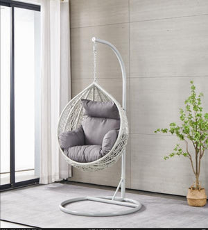 BRIQ MINI Egg Chair Children's grey hanging egg chair wicker hammock garden swing seat kids egg chair
