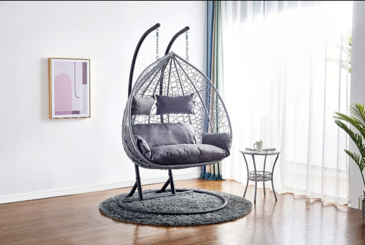 Double EGG Chair Swing Seat Double 2 Seater garden hammock chair
