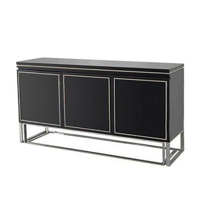 QATAR Black Silver Gloss Sideboard console cabinet Table