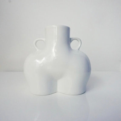 Bum Vase with love handles in White Gloss