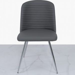Zara Grey Faux Leather Dining Chair