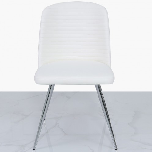 Zara Pure White Faux Leather Dining Chair