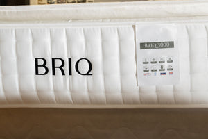 BRIQ Mattress - Natural Breathable 3000 sprung PILLOW TOP