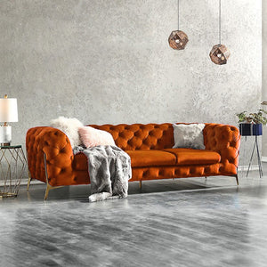 Bespoke BRIQ Contemporary chesterfield sofa velvet tufted couch samar sectional sofa