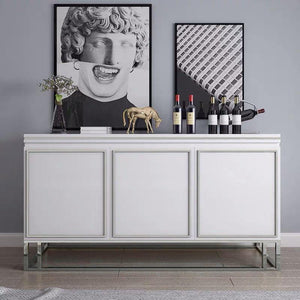 QATAR Silver White Gloss Sideboard console cabinet Table