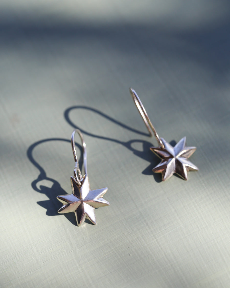 Quilted Star Earrings