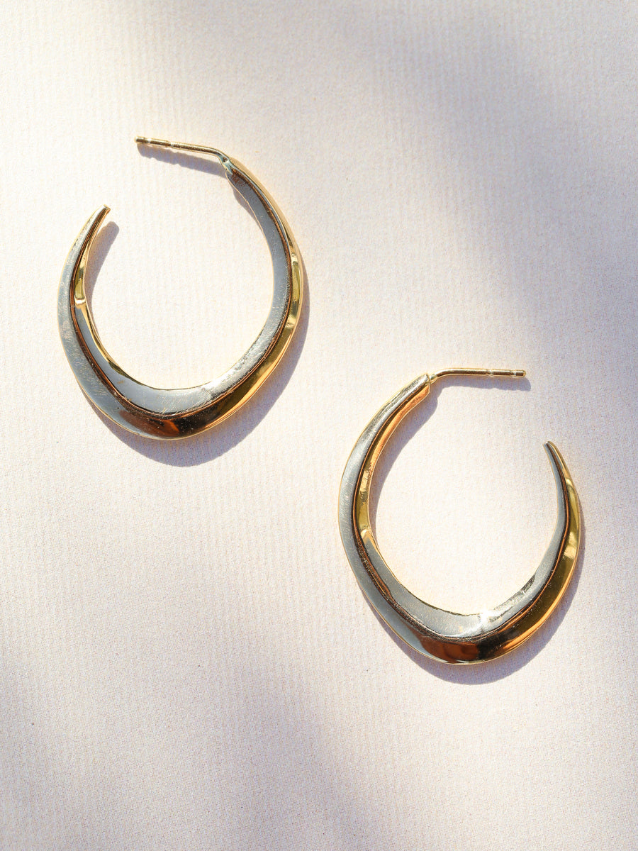 Gold Hydra Hoops