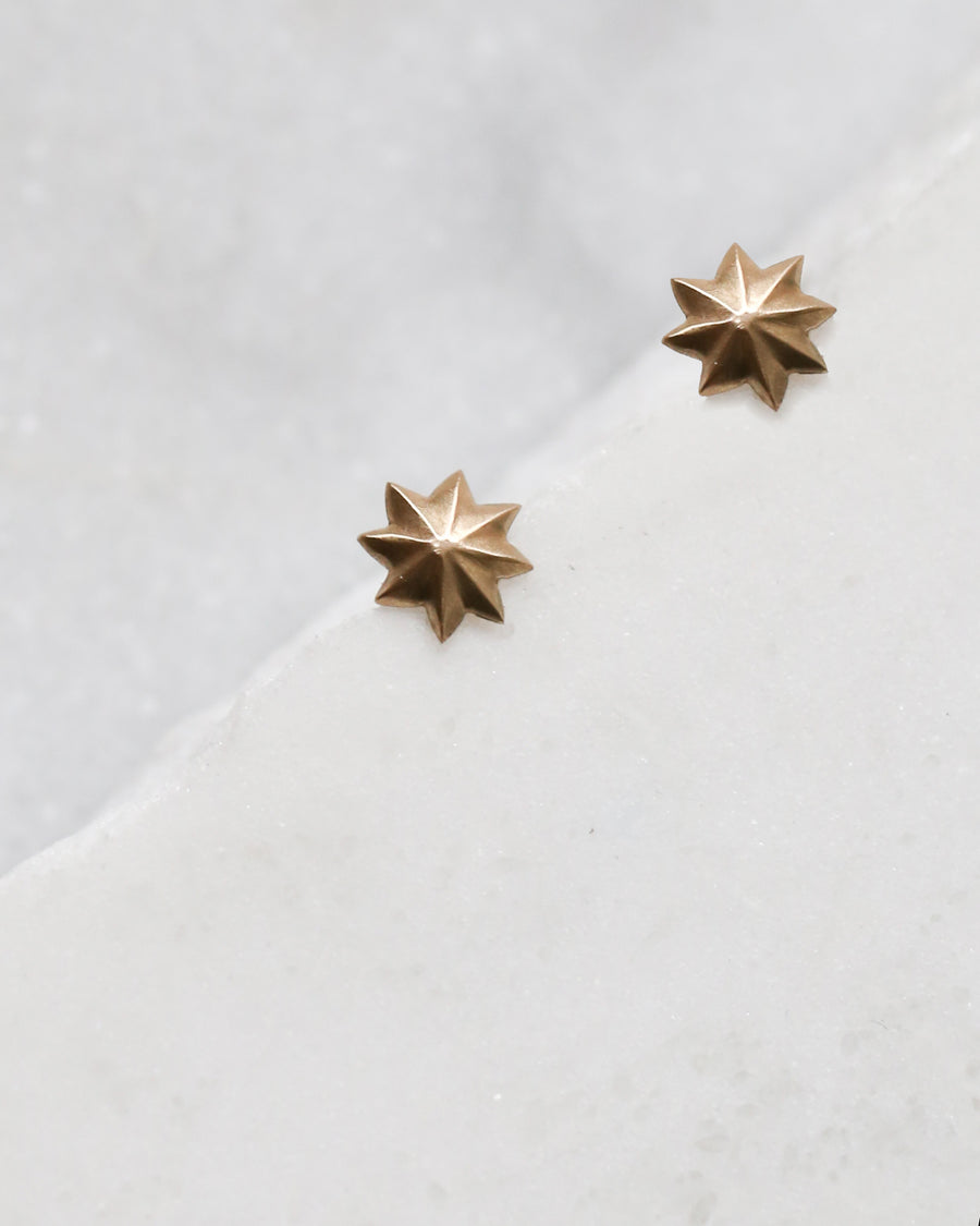 Gold Sol Studs