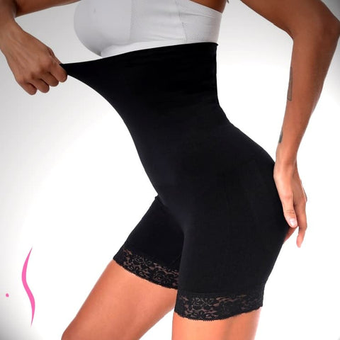 Image of CurvELLEssence™️ High Waist Shaper Shorts with Smoothing Sexy Lace