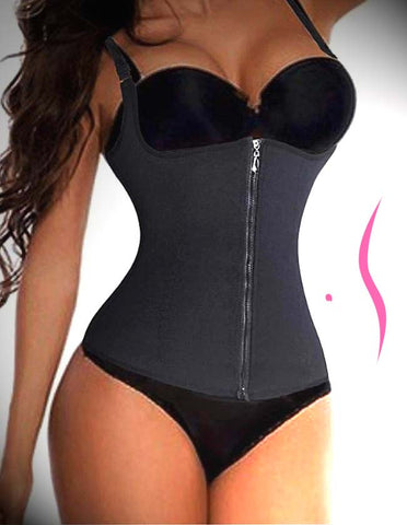 Image of CurvELLEssence™️ Waist Trainer Zipper Corset Vest with Adjustable Straps