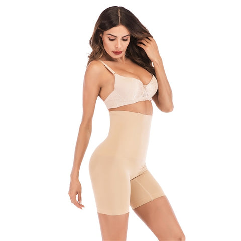Image of Womens Seamless High Waist Slimming Tummy Control Shaper Shorts