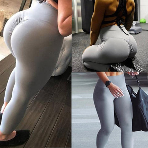 Image of High Waist Scrunch Butt Lift Fitness Yoga Workout Leggings