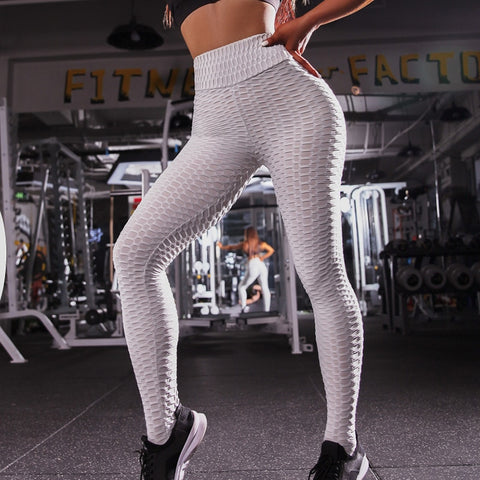 Image of High Waist Anti-Cellulite Scrunch Back Gym Yoga Fitness Activewear leggings