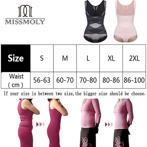 Miracle High Waist Full Body Shaper + Slimming Waist Trainer Underwear Bodysuit Shapewear with Extra Firm Tummy Control