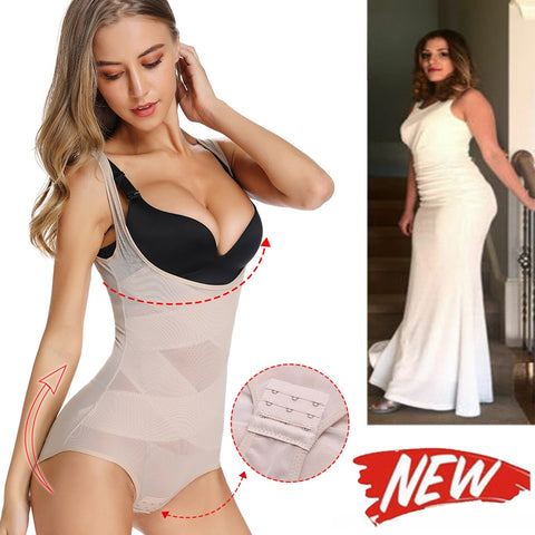 Image of Miracle High Waist Full Body Shaper + Slimming Waist Trainer Underwear Bodysuit Shapewear with Extra Firm Tummy Control