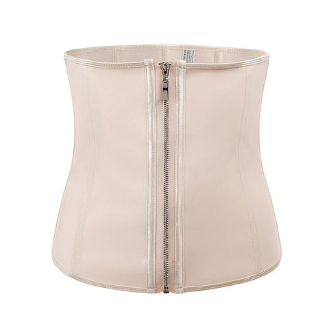 Image of Latex Waist Trainer Zipper Body Shaper + Tummy Waist Cincher Slimming Shaper Belt